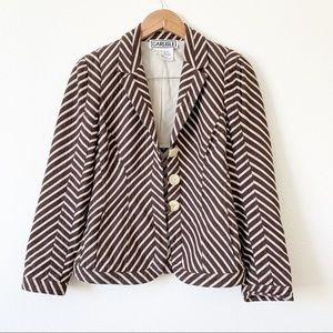 Carlisle Brown Stripped Jacket Size 2.